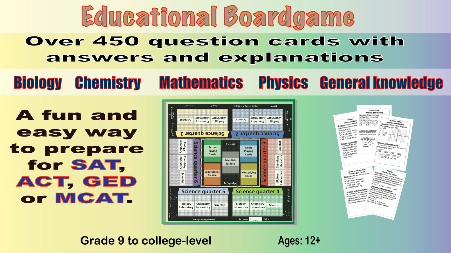 Educational boardgame on Science, Math and General Knowledge