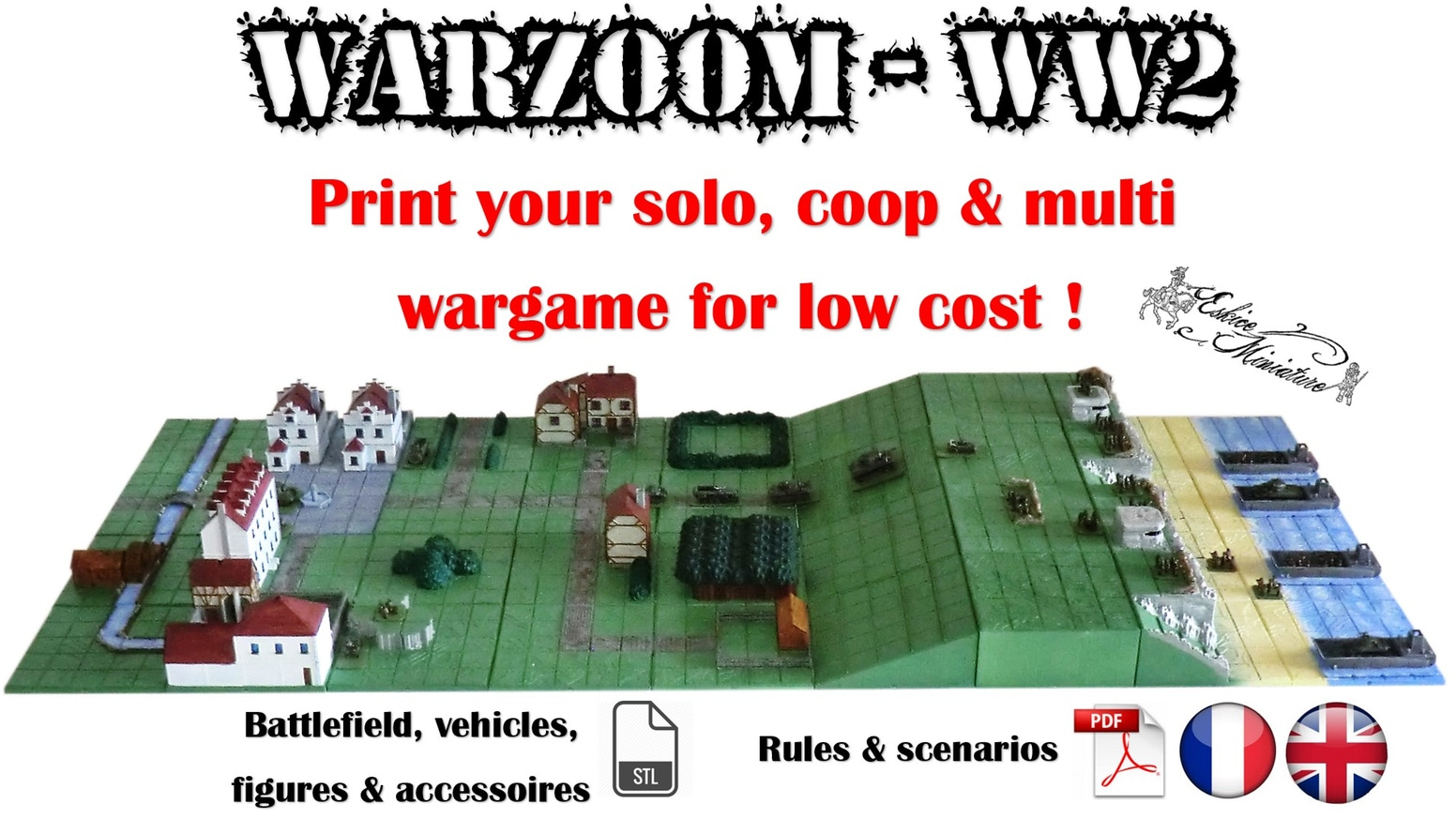 Warzoom WW 2 - Strategy game with figurines ! PYG - Tabletop