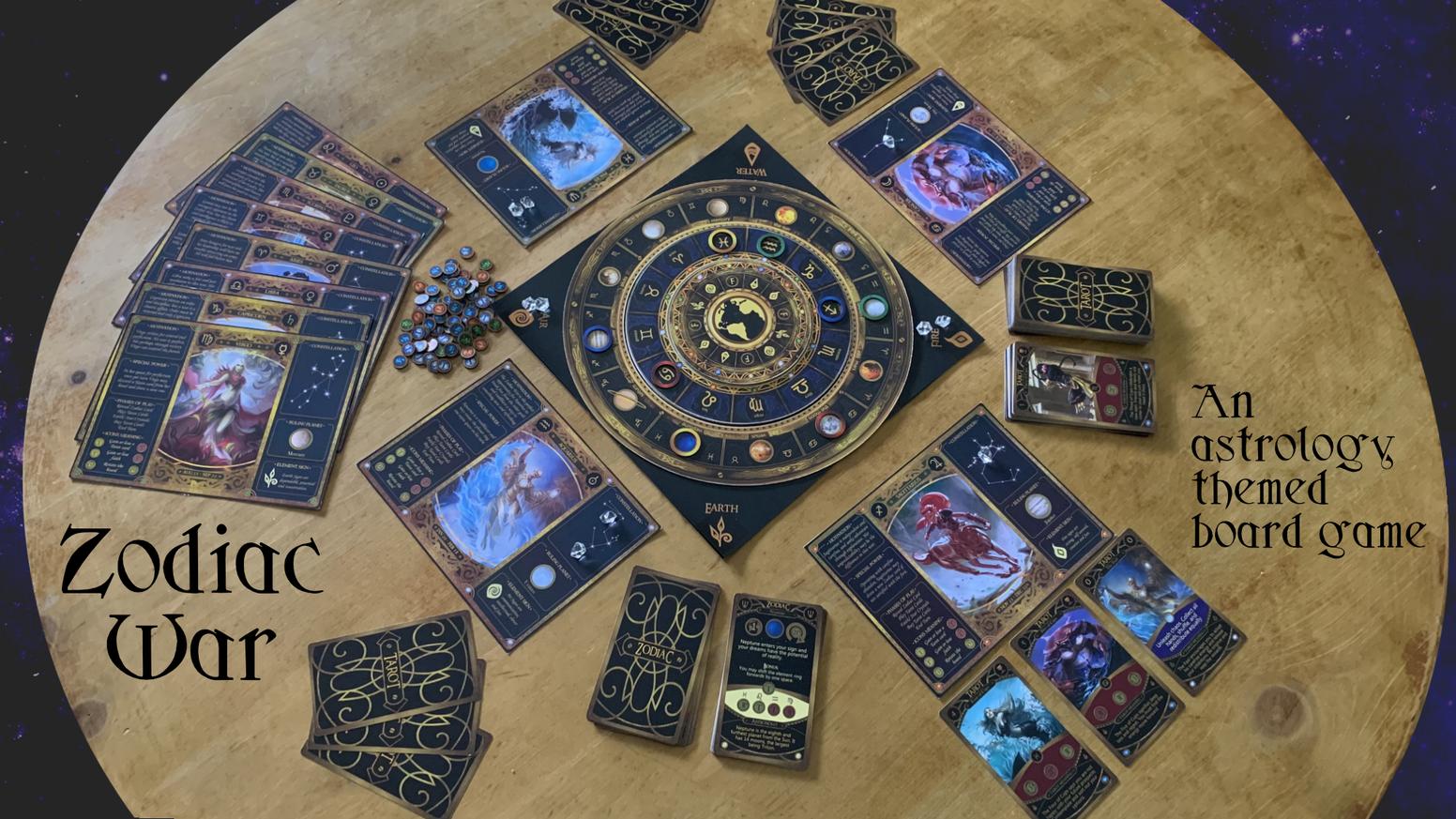 Zodiac War - An Astrology and Tarot Themed Board Game
