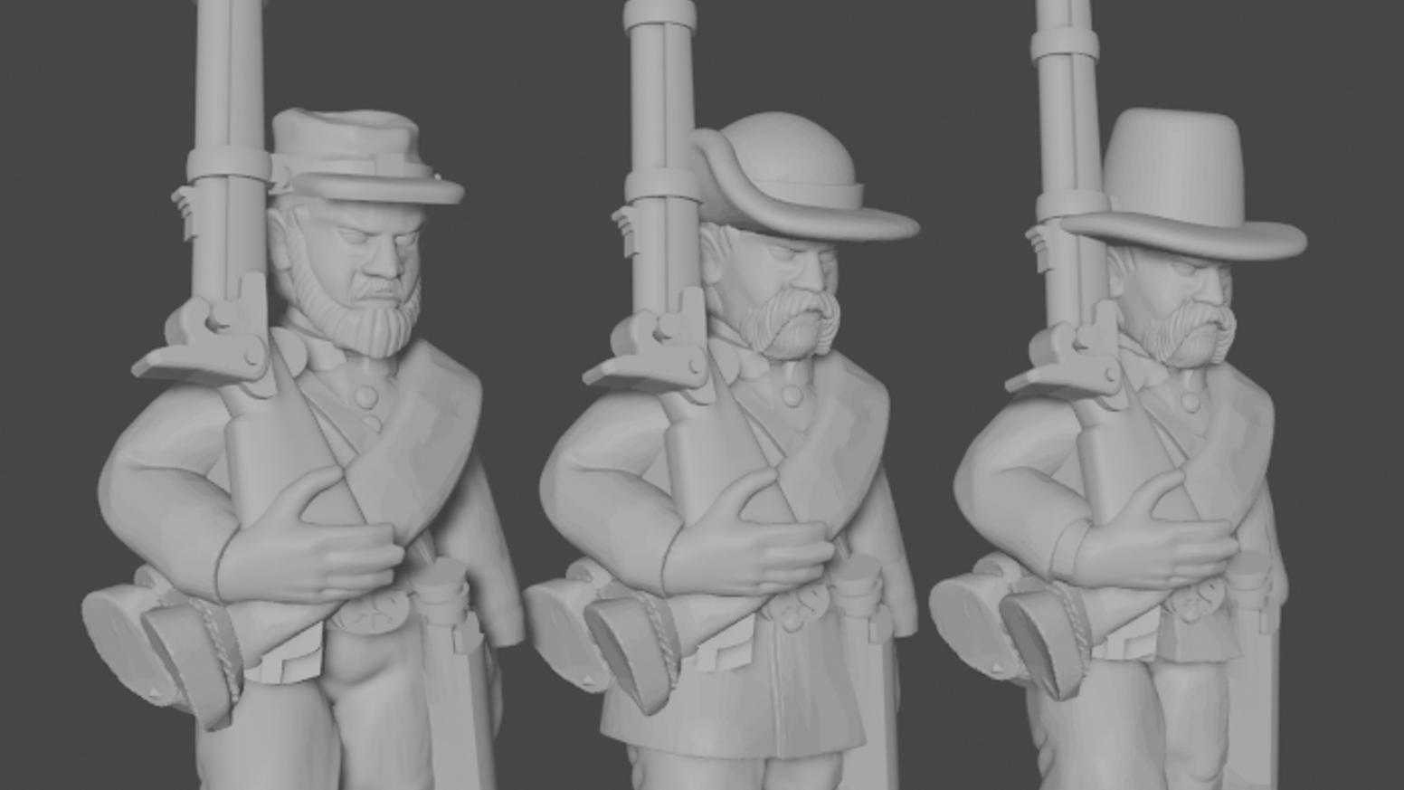 Union Asunder: 3D-Printable American Civil War Armies