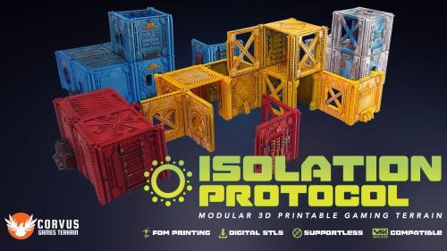 Isolation Protocol: Modular 3D Printable Sci-fi Terrain STL