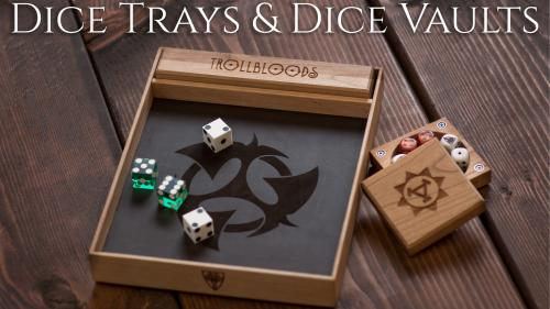 Wyrmwood Dice Trays & Dice Vaults for WARMACHINE & HORDES!