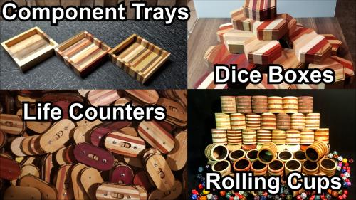 RPG Counters, Dice Trays, Rolling Cups & Component Trays