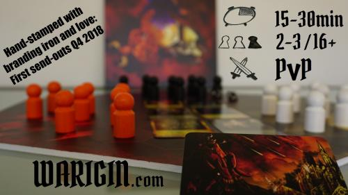 WARIGIN - A rapid PVP focussed board game for 2-3 tacticians
