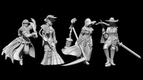 The Order of the Indigo Cross: 32mm miniatures