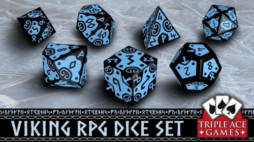 Polyhedral Dice Set: 7 Viking Dice