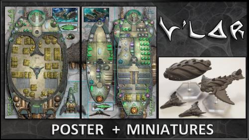 V lar: Starship Maps & Miniatures
