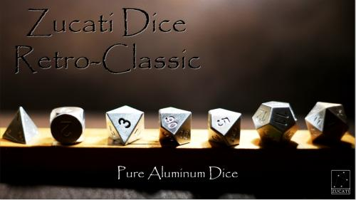 Zucati Dice: Retro Classic Pure Exotic Metal Dice