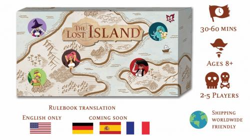 The Lost Island- treasure hunting board game