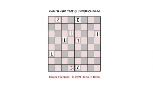 Power Checkers! game pieces (manufactured)
