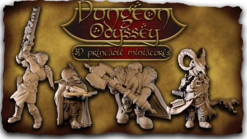 photograph relating to Printable Miniatures called Dungeon Odyssey: 3D Printable Miniatures - Tabletop Analytics
