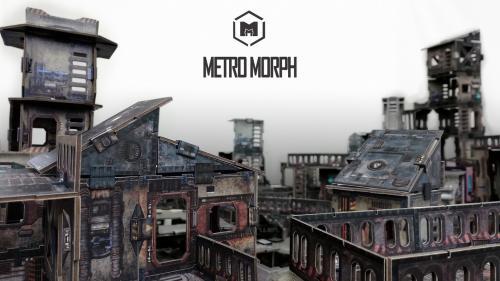 Metro Morph: ready-to-play modular card wargaming terrain
