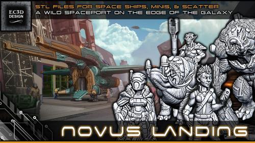 Novus Landing - 3D Printable Tabletop Models