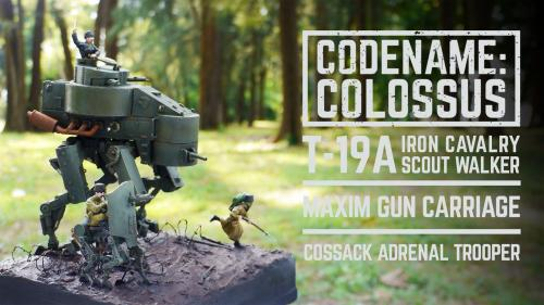 Codename Colossus T-19A Iron Cavalry mechanized resin kit