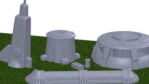 3D Printable Xeno Terrain No I