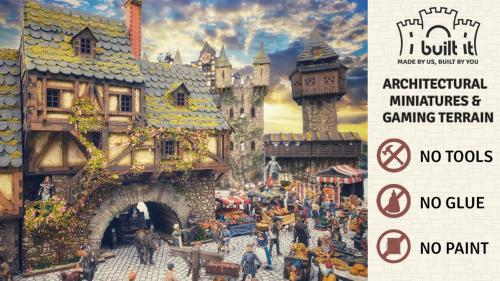 Medieval Europe Architectural Model Kits & Gaming Terrain