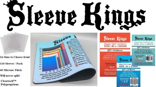 Sleeve Kings 60 Micron Standard Card Sleeves for Board Games