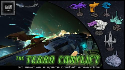 The Terra Conflict - 3D Printable Tabletop Models
