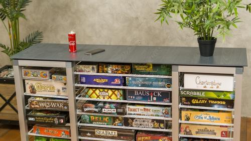 Modular Board Games Organizer without any tools assemble.