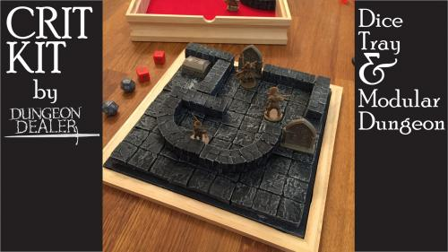 CRIT KIT - Dice Tray and Portable Dungeon