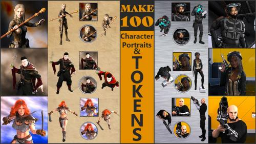 Make 100 Character Portraits & Tokens!