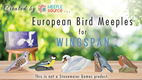 Painted Bird Meeples for the Wingspan European Expansion