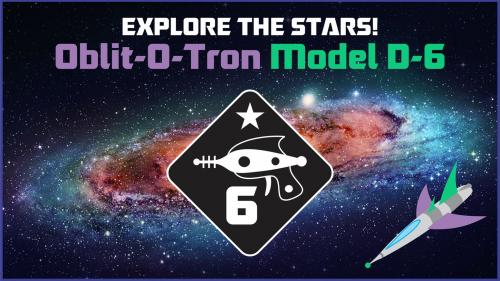 Oblit-O-Tron D6 Dice - Explore the Stars!