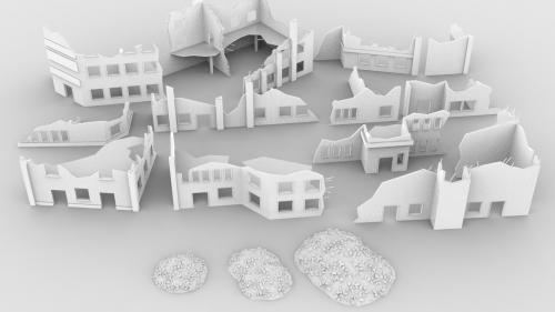 3d printable terrain - building ruins
