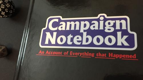 Campaign Notebook - for Players and GMs