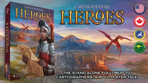 Cartographers Heroes + 3 Map Pack Expansions