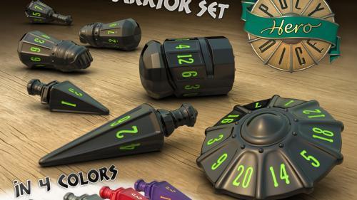 PolyHero Dice - Warrior Set
