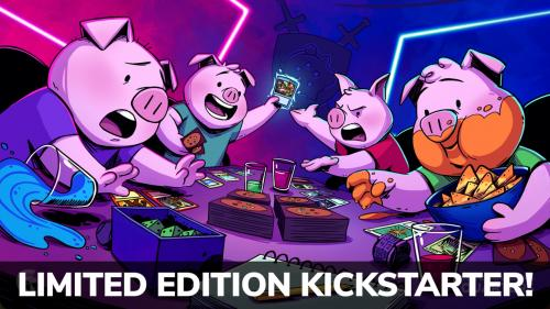 """Pigs Playing Magic"" Commander s Quarters Playmat"