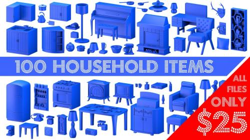 Household items - 3D Printable Models Sets