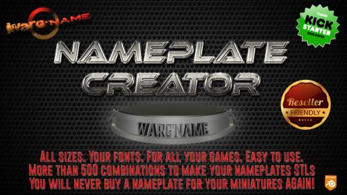 Easy Nameplate Creator for all your Miniatures (STL )