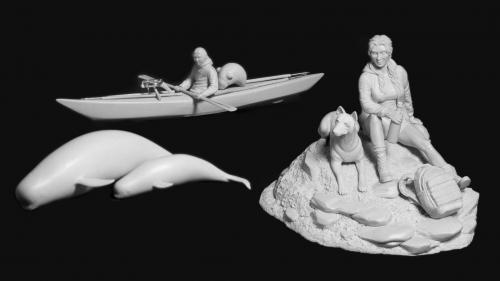 Adrift and at Peace: Resin Miniature Kits of Man and Nature