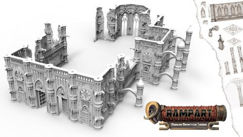 Rampart: Magnetized Modular Terrain for Tabletop