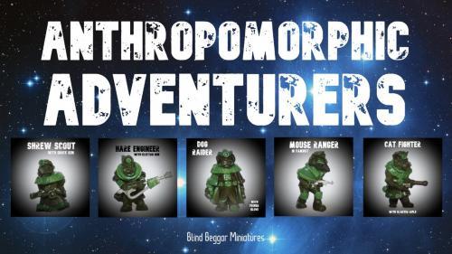 Anthropomorphic Adventurers: White metal sci-fi miniatures
