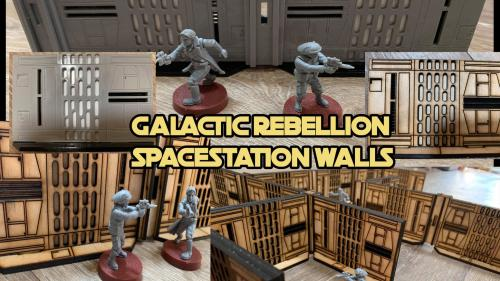 Galactic Rebellion SPACE STATION Walls (28-32mm scale)