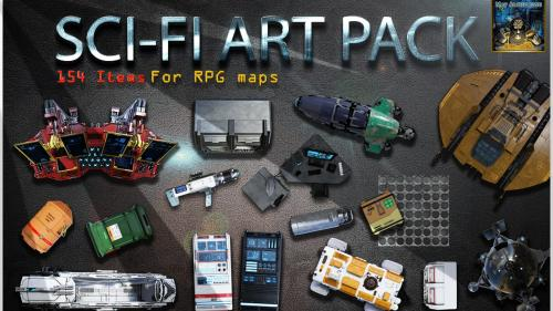 Sci-Fi Icons art pack for RPG maps and game master s