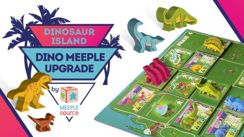 Dino Meeple Upgrade for Dinosaur Island by Meeple Source