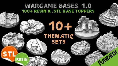 Wargame Resin & .STL Base Toppers