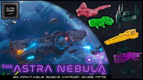 The Astra Nebula - 3D Printable Tabletop Models