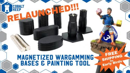 Wargaming Bases w/ Magnets & compatible Paint Handles!