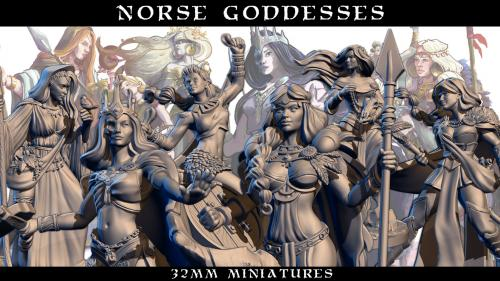 Norse Godesses miniatures
