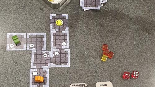 Little Living Dungeon, a 1 player mint tin game!