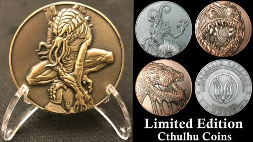 Cthulhu Coins by Sandy Petersen & Metallic Legends