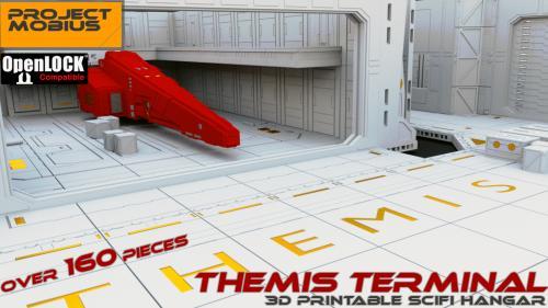 3D Printable Scifi Hangar - Themis Terminal [OpenLOCK]