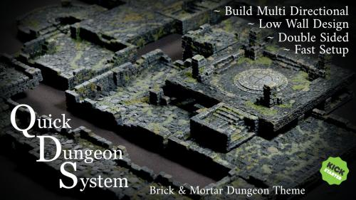Mystic-Realm s QDS: Quick Dungeon System 3d Tabletop Terrain