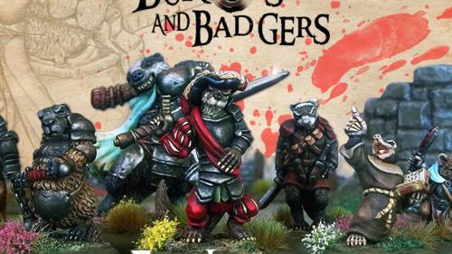 Burrows & Badgers: FreeLances anthro animal miniatures