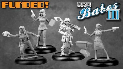 Bombshell Babes 3 - Female Miniatures